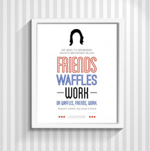 Leslie Knope, Typography Print, Parks and Recreation, Quote Print, TV ...