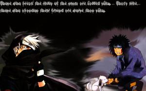Kakashi Quotes Kakashi and kiba background by