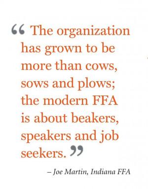 ... ffa is about beakers speakers and job seekers joe martin indiana ffa