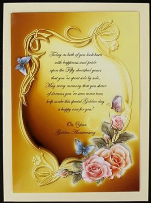 Golden Wedding Anniversary Wishes on Craftsuprint designed by Sue ...