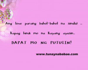 Love Quotes. Tagalog Funny Love Quotes And Pinoy Funny Love Sayings ...