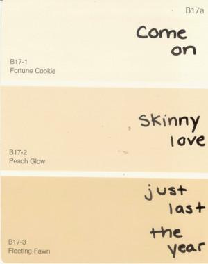 mine bon iver handwriting skinny love paint swatch