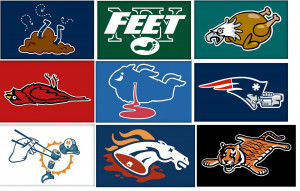 Yesterday's Cheese: NFL Logo Parodies Taunt Fans And Haters Alike