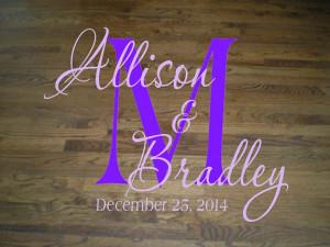 Wall Decal Quote Floor Decal Wedding Dance Floor Elegant Script ...