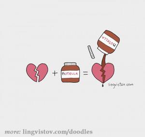 funny nutella heart cure