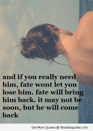 Quotes About Fate And Love. QuotesGram