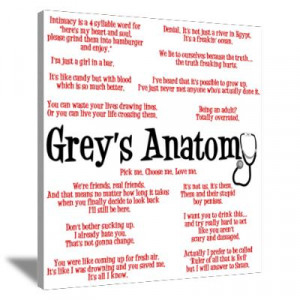 CafePress > Wall Art > Canvas Art > Grey's Anatomy Quotes Canvas Art