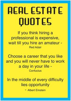 So true! #RealEstate #quotes More