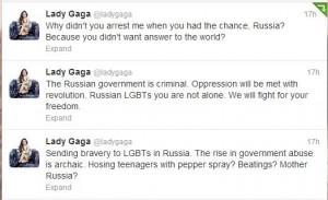 Lady Gaga performs in front of Putin at European Games