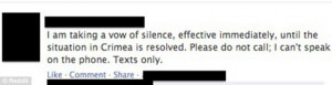 Nice thought: Can they use Facebook and Twitter during this silence ...