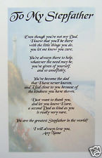 PERSONALISED POEM FOR STEPFATHER / STEPDAD - A4 - LAMINATED GIFT