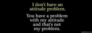 Attitude Problem Facebook Profile Timeline Cover Photo