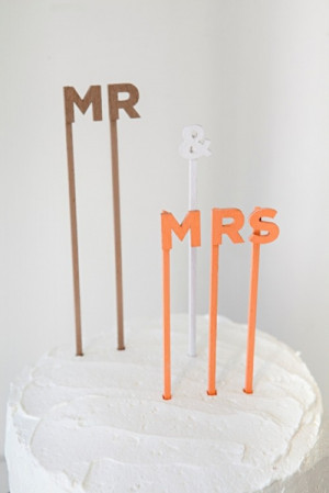 Simple And Cute DIY Wedding Cake Topper Sayings