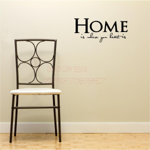 where your heart is house decor inspirational vinyl wall decal quotes ...