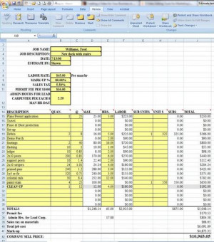 Request the Estimating Template now and start estimating with it right ...
