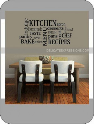 Kitchen Subway Art - Vinyl Wall Art Lettering, Quotes, Decals by ...