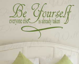 Decal Quote Sticker Vinyl Art Lettering Saying Large Just Be Yourself ...
