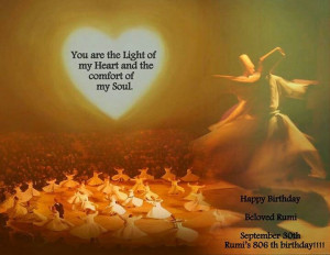 Rumi's 806th birthday