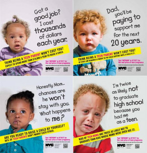 ... CAMPAIGN: NYC ad campaign on teen pregnancy marshals crying babies