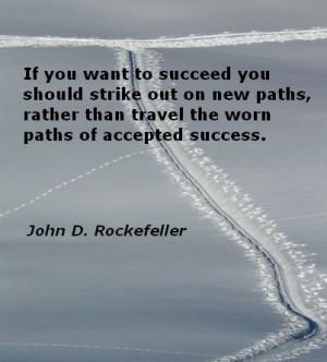John D. Rockefeller quote on #success