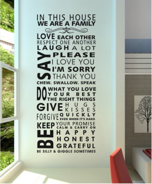 Famous English family rules/quotes/saying/words