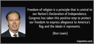 Freedom of religion is a principle that is central to our Nation's ...