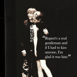 emma watson, harry potter, love, quote, rupert grint