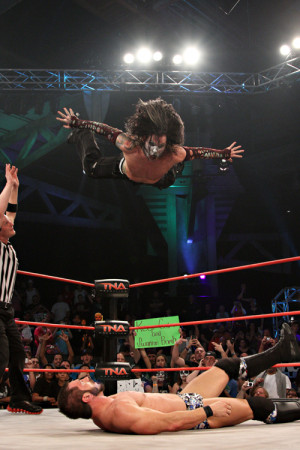 Jeff Hardy Holding The Chair