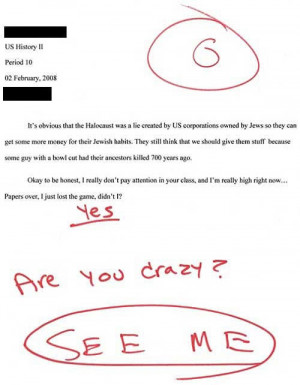 is a compilation of 21 exam answers that may have flunked the exam ...