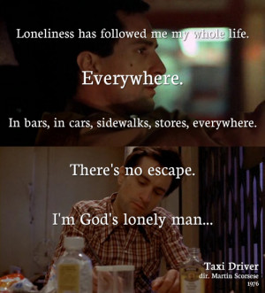 ... continuous chain. Then suddenly, there is a change.Taxi Driver (1967