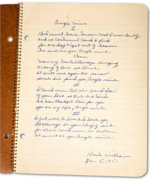 from hank williams notebook bob dylan has long claimed hank williams ...