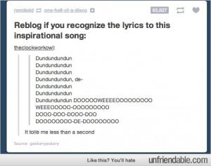Tumblr - Lyrics to an inspirational song.