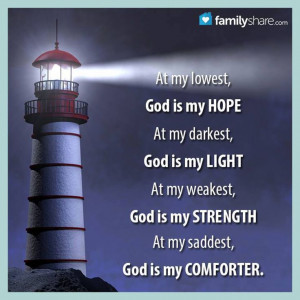 God is my strength.