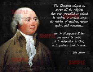 John Adams Christian Quote Poster