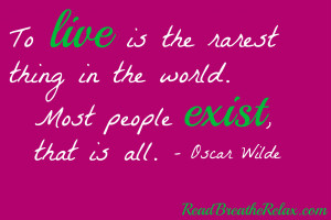to live oscar wilde book quotes