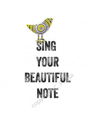 SING Your Beautiful Note Inspirational Twitter by ArtThatMoves, $9.00