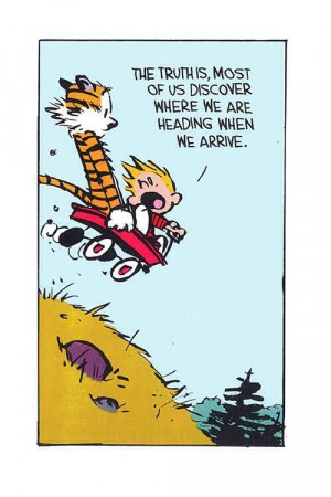 Calvin and Hobbes - right as usual. #inspirational #adventure