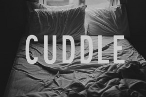 ... White text happy forever bed Cuddle boy warm together simple covers