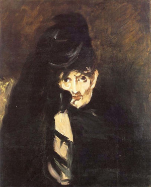 Edouard Manet, Berthe Morisot in Mourning, c. 1874, o.c., Private ...
