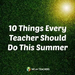 Bucket List for Teachers