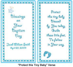 baby baptism poems