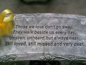 poems for lost loved ones