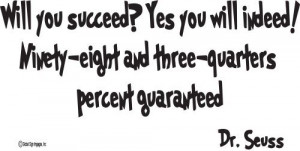 Seuss Wall Quotes Will You Succeed? Yes You Will Indeed! -Wall Quote ...