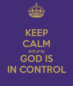 God is in control!