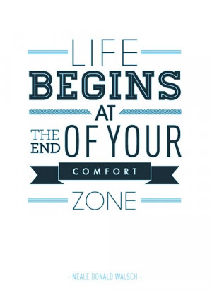 Motivational Typography Picture Quote Comfort Zone