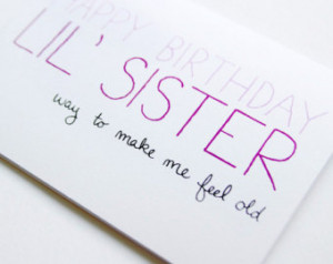 Little Sister Birthday Quotes Happy birthday quotes for