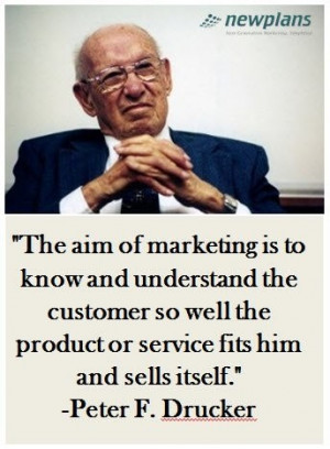 Peter drucker, quotes, sayings, aim of marketing, great