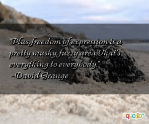 Plus , freedom of expression is a pretty mushy , fuzzy area. That's ...