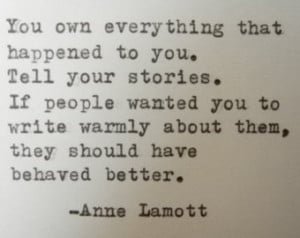 ANNE LAMOTT Quote Handtyped Typewri ter Quote Typed with Vintage ...