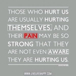 Hurting people hurt others